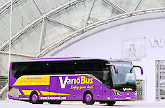Bus of the VarioBus GmbH at the Leipziger Neue Messe